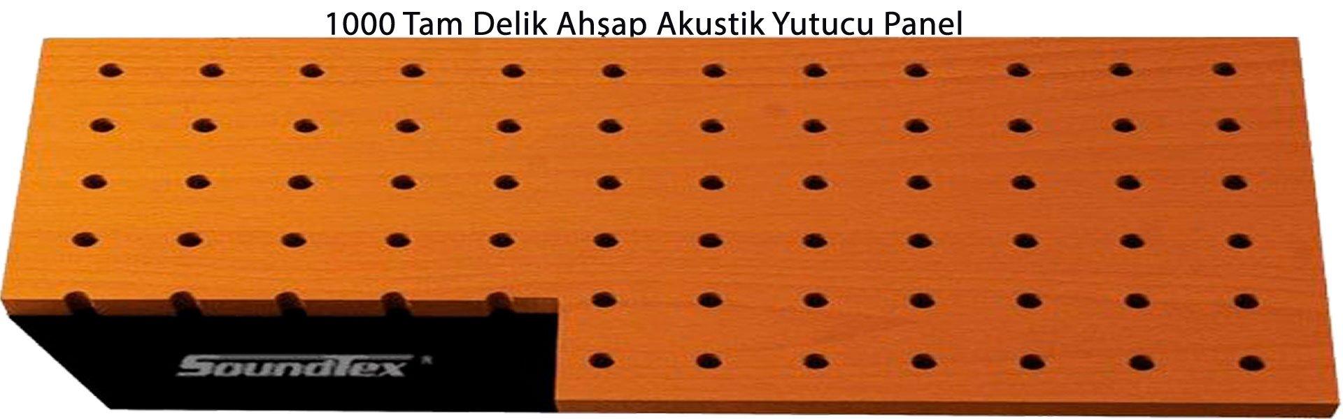 1000 Tam Delik Ahşap Akustik Yutucu Panel