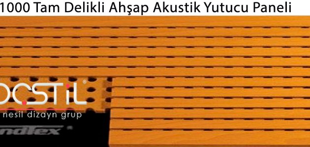 1000 Tam Delikli Ahşap Akustik Yutucu Paneli