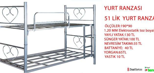 51 LİK YURT RANZASI