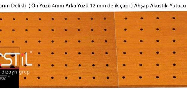 Ahşap Akustik Yutucu Panel 1000 Yarım Delikli