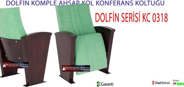 DOLFİN KOMPLE AHŞAP KOL KONFERANS KOLTUĞU KC 0318
